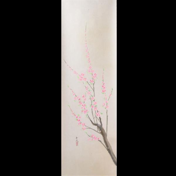 辰本青花 桃の図
